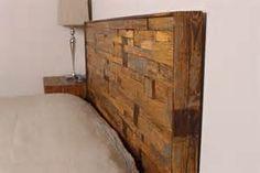 reclaimed wood -headboard