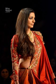 Anju Modi Opens the Games at Delhi Couture Week 2013 with Tabu as Drapaudi