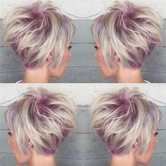 Cute short pixie haircut with lavender/purple roots and silvery ends! Butterfly Loft Salon and Spa 17401 Ventura Blvd, Suite Encino, California More Hair ...