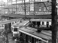 Tram accident, Rozelle, 1947. Oops!