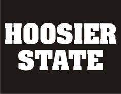New Custom Screen Printed T-shirt Hoosier State Small - 4XL Free