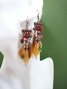 Bold and Beautiful ~ Out of My Mind Earrings from outofmymind on Ruby Lane