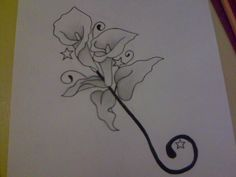 calla lily tattoo - I like the shape of this.. W some changes