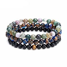 GBC Natural Stone Beads Bracelet
