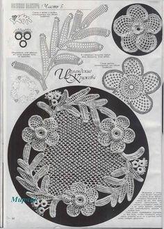 irish crochet flowers View album on Filet Crochet, Freeform Crochet, Crochet Chart, Crochet Stitches, Irish Crochet Tutorial, Irish Crochet Patterns, Russian Crochet, Irish Lace, Crochet Flowers