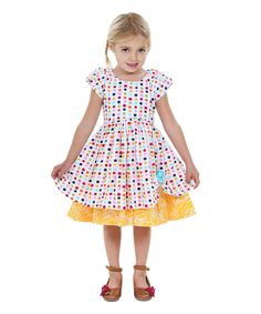 c120ccd2e12 Jelly The Pug Rainbow   Yellow Spring Bling Katlin Dress - Toddler   Girls
