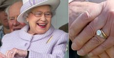 Now, Queen Elizabeth II has plenty of priceless jewels at her disposal, but there is one that she holds particularly close to her heart—her engagement ring. Queen Elizabeth Wedding, Queen Elizabeth Ii, Royal Engagement Rings, Wedding Rings, Elizabeth Bathory, Queen Of Everything, British Royal Families, Queen Of England, Queen Mother