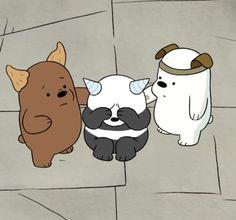 『˗ˏˋPinterest - @milkybambi Bear Wallpaper, Bear Cartoon, We Bare Bears Wallpapers, Cute Wallpapers, Panda Bear, Bear Meme, We Bear, Little Panda, Brother Bear