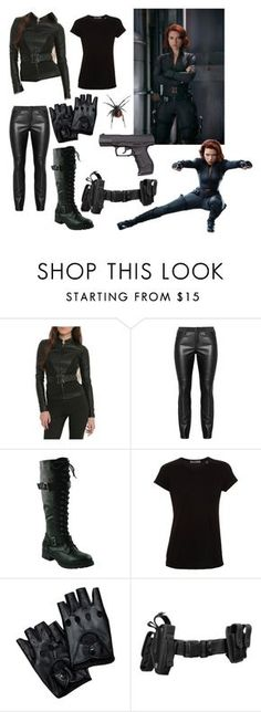 """Black Widow Outfit!"" by archer10 ❤ liked on Polyvore featuring Vince, women's clothing, women, female, woman, misses and juniors"