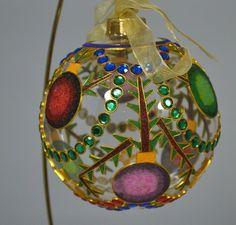 NEW FLAWLESS Stunning PIER 1 IMPORTS Glass TEARDROP REFLECTOR Christmas Ornament