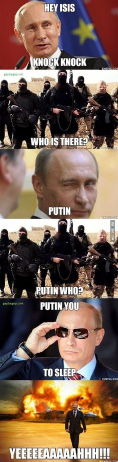 Funny Jokes About Vladimir Putin vs. Terrorists