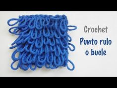 Punto rulo, bucle o piel a crochet - YouTube