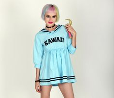 KAWAII | Baby Blue Anime Sailor Dress // Free Shipping!