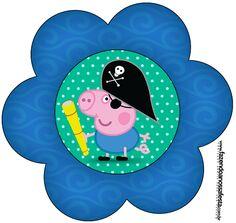 Flor George Pig Pirata: