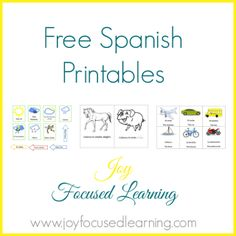 Joy Focused Learning: Spanish Resources