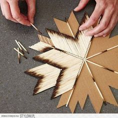 artesanato com palito de fosforo passo a passo - Pesquisa Google