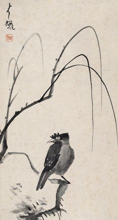 Painted by the Qing Dynasty artist Zhu Da 朱耷. View paintings, artworks and galleries at Chinese Art Museum. Learn about Chinese history and art at China Online Museum.