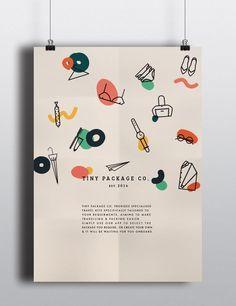 Tiny Package Co. on Branding Served Web Design, Layout Design, Icon Design, Design De Configuration, Design Art, Print Design, Design Ideas, Flat Design, Mises En Page Design Graphique