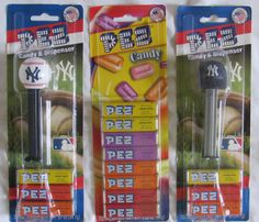 NY Yankees Pez Dispensers Refill Package Bundle Baseball Batting Helmet NEW