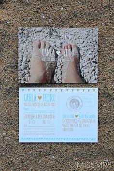► Invitaciones para una boda de playa. #invitactionesdeboda #bodas #playa