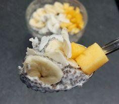 Budincă de chia și cocos Omega 3, Matcha, Dairy, Cheese