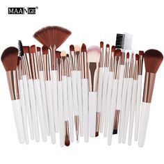 MAANGE 25pcs Makeup Brushes Set Beauty Foundation Power Blush Eye Shadow Brow Lash Fan Lip Face Make Up kabuki Tool Brush Kit-in Makeup Scissors from Beauty & Health on Aliexpress.com | Alibaba Group