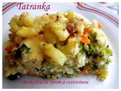 Brokolica s cestovinou a syrom (fotorecept) - Recept