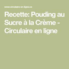 Recette: Pouding au Sucre à la Crème - Circulaire en ligne Sauce Pizza, 20 Min, Creme, Sweet, Desserts, Recipes, Marcel, Milk Box, Fishing Line