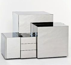 Maria Pergay; Unique Stainless Steel Cabinets, c1972.,