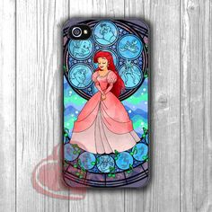 Ariel Stained Glass pink gown girl -sween for iPhone 4/4S/5/5S/5C/6/ 6 ,Samsung Galaxy