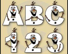 frozen alphabet – Etsy