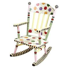 Maybe I'll do this someday if I ever have a grandchild, using my kid's little rocking chairs.