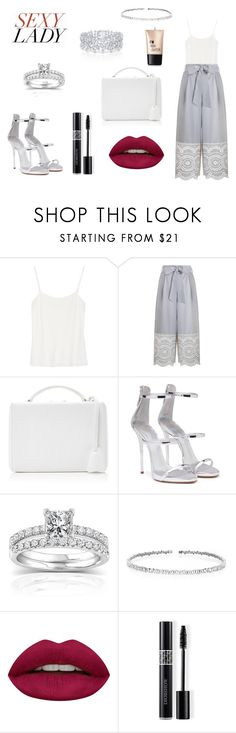 """""""Sexy Lady Look"""" by rea-godo ❤ liked on Polyvore featuring The Row, Zimmermann, Mark Cross, Giuseppe Zanotti, Annello, Graff, Suzanne Kalan, Huda Beauty, Christian Dior and Charlotte Russe"""