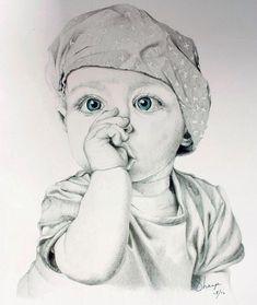 Dark Art Drawings, Pencil Art Drawings, Realistic Drawings, Pencil Portrait Drawing, Portrait Art, Painting & Drawing, Portraits, Girl Drawing Sketches, Art Drawings Sketches Simple