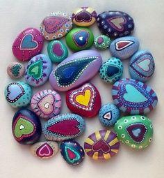 Steine anmalen - immer wieder ein schönes Geschenk oder Mitbringsel...