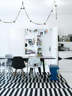 Black & White IkEA carpet