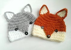 cute little wolf hat handmade beanie perfect for anyone and everyone in your family! These hats work well for photo props and gift giving! LISTING IS FOR ONE HAT ONLY. made from 100% comfy acrylic yarn sizes (approximate): 0-3 months fits 14-15 3-6 months fits 15-16 6-9 months fits