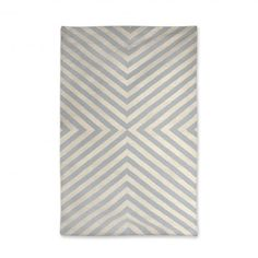 Modern Area Rugs | Grey and Natural Bridget Indian Kilim Flat Weave Rug | Jonathan Adler