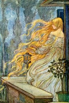 Rapunzel, ca. 1914 ~ by Emma Florence Harrison (British, early 1900s)