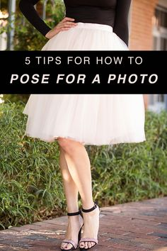 """Say """"happy"""" instead of """"cheese."""" // 5 Tips for How to Pose for a Photo // Tulle midi skirt and strappy heels"""