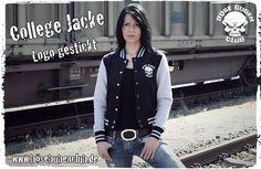 Böse Buben Braut College Jacke mit gesticktem Logo. www.bösebubenclub.de