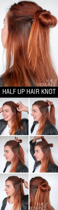 how to do a half-up bun