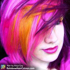 Hair by Anya Goy. www.rainbowhaircolour.com