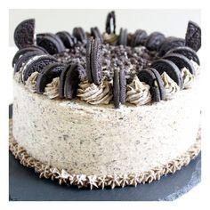 Oreo Cream Birthday Cake foodgawker ❤ liked on Polyvore featuring food