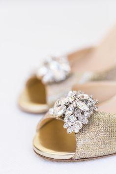 Jimmy Choo shoes. Embellished shoes. Gold shoes. Brides shoes. Image by Wesley Vorster