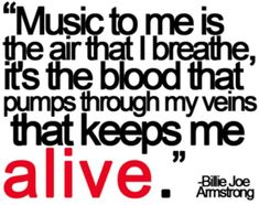 Great music quote from Billie Joe Armstrong of Green Day.   Music ...