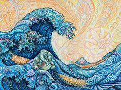 "tryppi: "" Hokusai - The Great Wave (RR Remix) - Randal Roberts "" Waves, Ocean Waves, Beach Waves"
