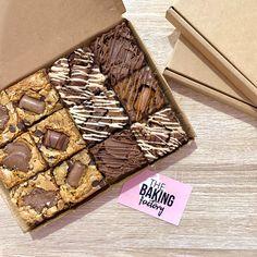 Brownie Packaging, Baking Packaging, Dessert Packaging, Box Brownies, Brownie Cookies, Chocolate Brownies, Best Brownie Recipe, Brownie Recipes, Decorated Brownies