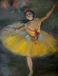 """El 19 de Julio en París, hace 180 años, nace el pintor y escultor Edgar Degas, uno de los fundadores del impresionismo.  Conocido por sus obras sobre el mundo del ballet, del que nos legará maravillosas escenas. Os dejamos nuestra """"gialla""""."""