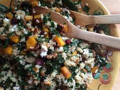 A perfect #thanksgiving #salad recipe.  Quinoa and Kale Fall Salad - Emily Always Cooks